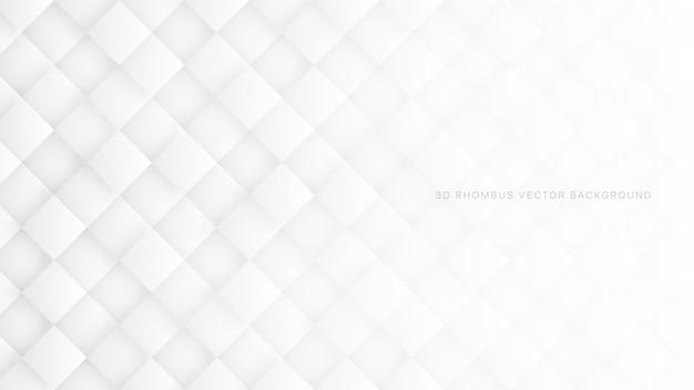 Weißer abstrakter hintergrund der raute-3d