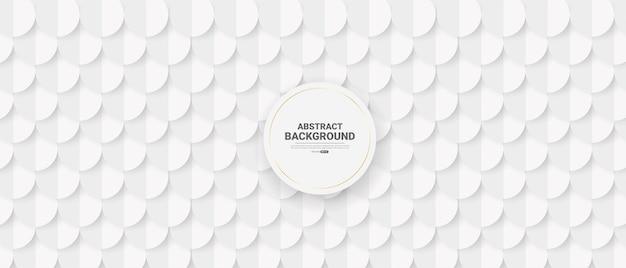 Weißer abstrakter hintergrund im 3d-papierstil.