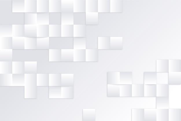 Weißer abstrakter hintergrund in der art 3d