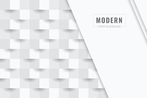 Weißer abstrakter hintergrund in der art des papiers 3d