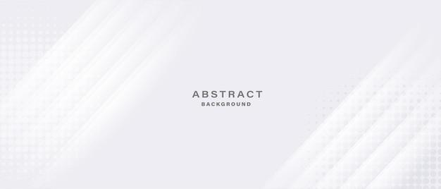 Weißer abstrakter hintergrund mit glänzenden linien und halbton