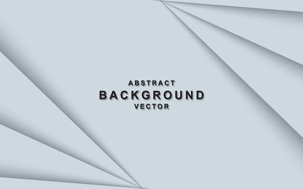 Weißer abstrakter hintergrund mit überlappungsschichten