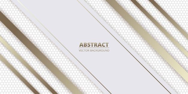 Weißer abstrakter luxushintergrund mit heller sechseck-kohlefaser
