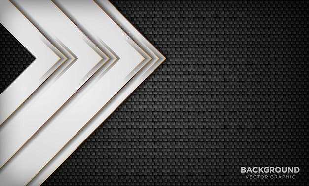 Weißer abstrakter überlappungshintergrund auf dunkler geometrischer textur.