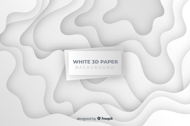 Weißer arthintergrund des papiers 3d