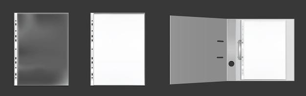 Weißer binderumschlag dl und quadratische schablone.