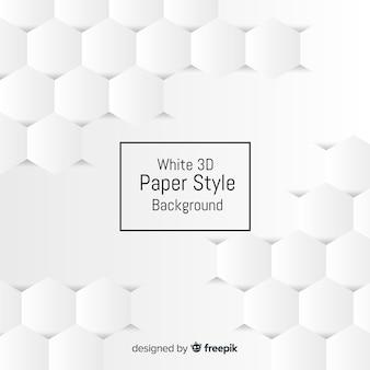 Weißer dreidimensionaler papierarthintergrund