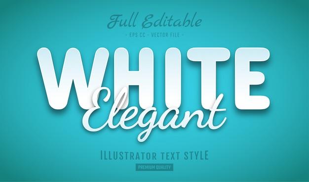 Weißer eleganter text
