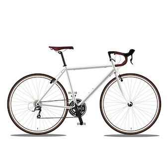 Weißer fahrrad