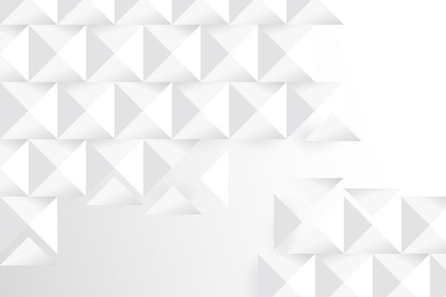 Weißer geometrischer hintergrund in der papierart 3d