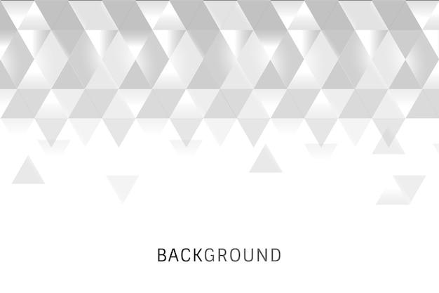 Weißer geometrischer hintergrund