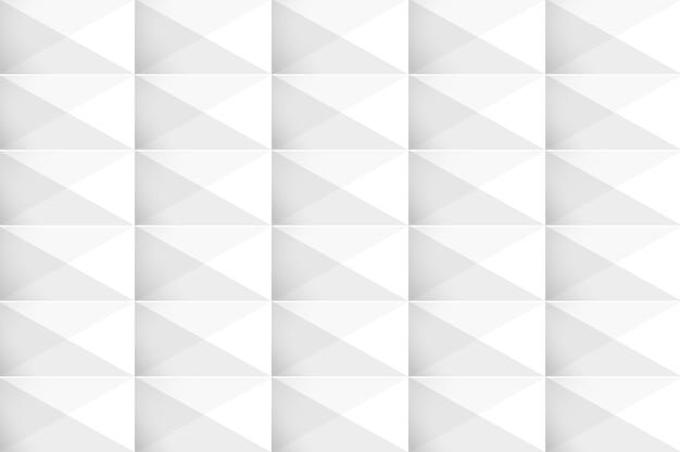 Weißer geometrischer moderner hintergrund 3d