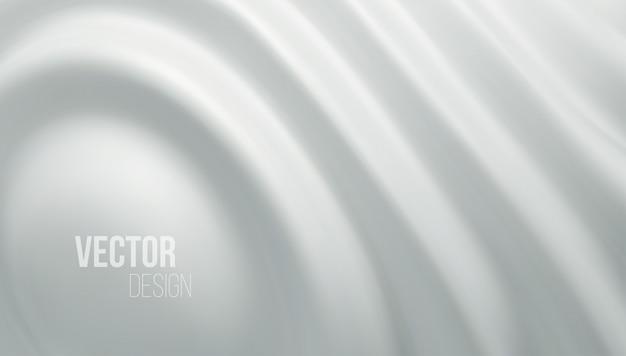 Weißer glänzender flüssiger wellen 3d realistischer hintergrund.