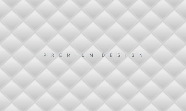 Weißer grauer hintergrund des abstrakten premiumdesigns mit farbverlaufsraute für abdeckung oder fahne