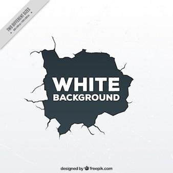 Weißer hintergrund der abgebrochenen wand
