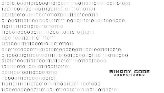 Weißer hintergrund der binärcode-netzwerktechnologie