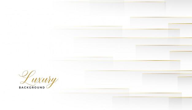 Weißer hintergrund der schönen horizontalen goldenen linien