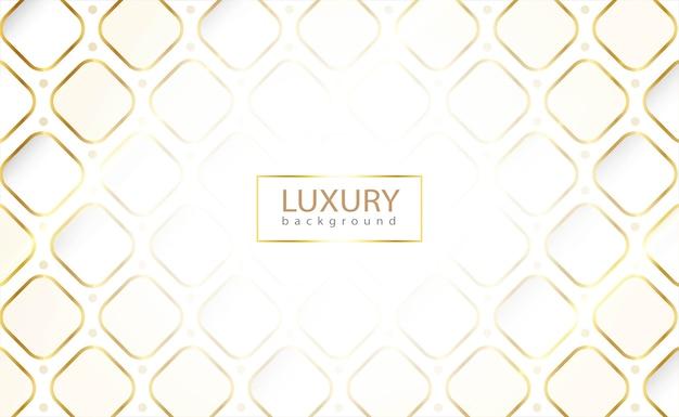Weißer hintergrund mit abgerundetem rechteck. goldene luxuslinie