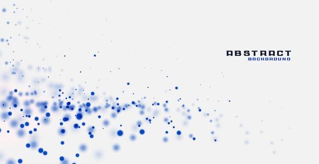 Weißer hintergrund mit blauen partikeln