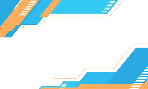 Weißer hintergrund mit hellblau und orange im geometrischen design. futuristisches design für ihre website.