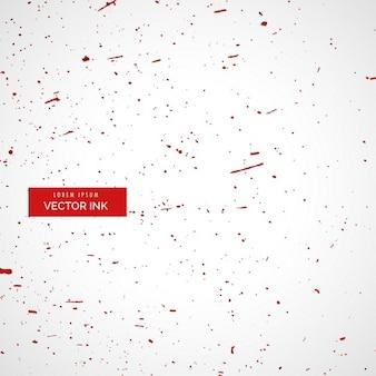 Weißer hintergrund mit roter tinte splatter