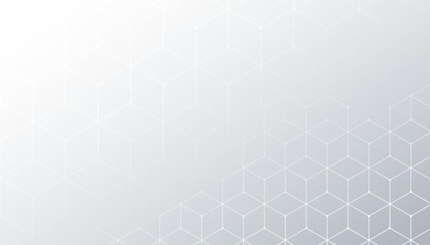 Weißer hintergrund mit sechseckigem linienmusterentwurf