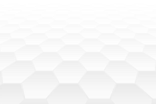 Weißer hintergrundentwurf der perspektivischen form der sechseckform 3d