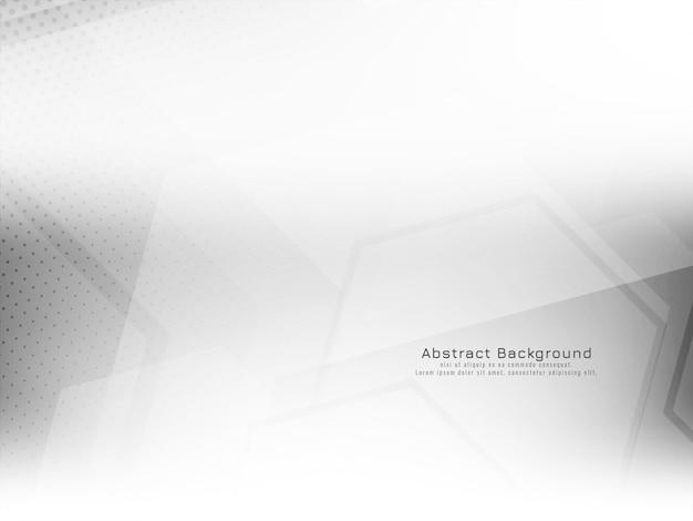 Weißer hintergrundvektor der modernen dekorativen geometrischen sechseckart