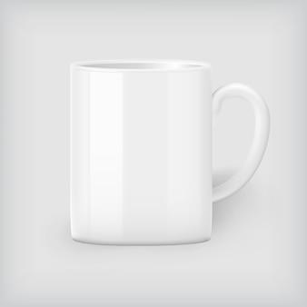 Weißer kaffeetasspott oben, unternehmensidentität