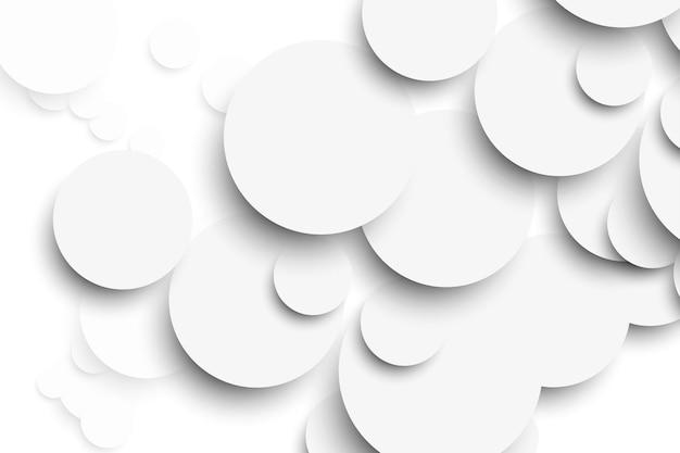 Weißer kreis mit schlagschatten auf weißer hintergrundschablone. vektor-illustration
