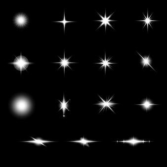 Weißer lens flares hintergrund