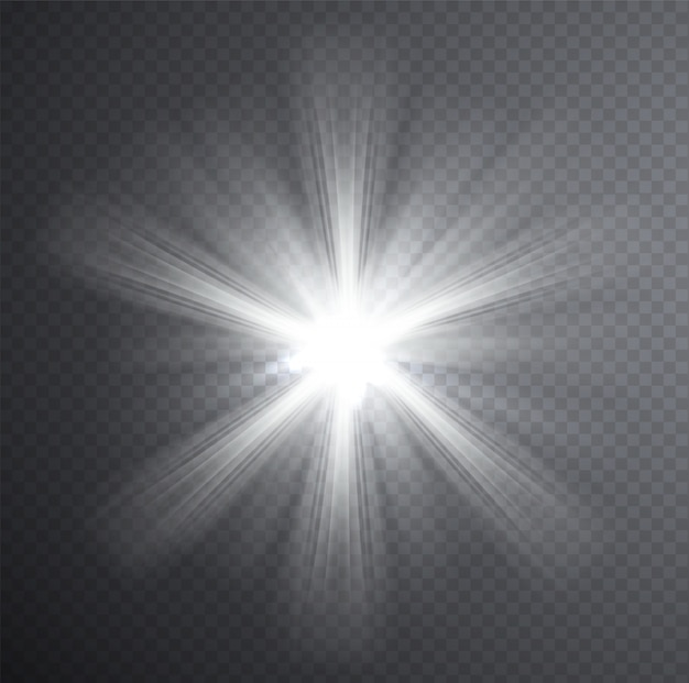 Weißer lichtstrahl, transparenter lichteffekt