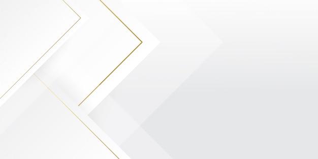 Weißer luxushintergrund mit goldenem linieneffekt