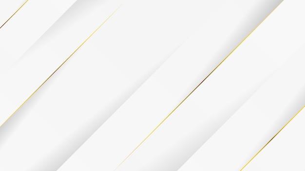 Weißer luxushintergrund mit goldenen linien.