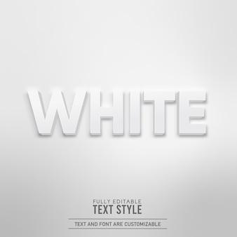 Weißer minimalistischer einfacher realistischer 3d-schatten bearbeitbarer texteffekt