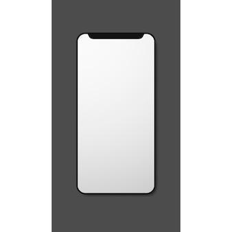 Weißer moderner smartphone des handygalaxie-leeren modells modern