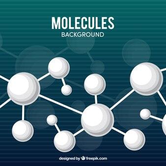 Weißer molekül hintergrund