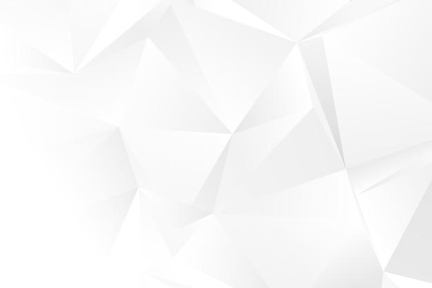 Weißer monochromer geometrischer formenhintergrund shapes