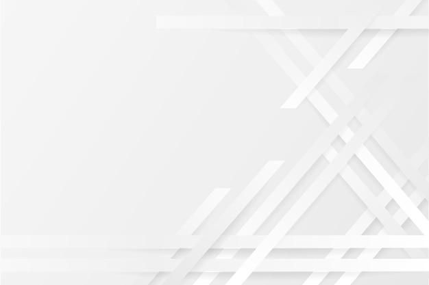 Weißer monochromer hintergrund im papierstil