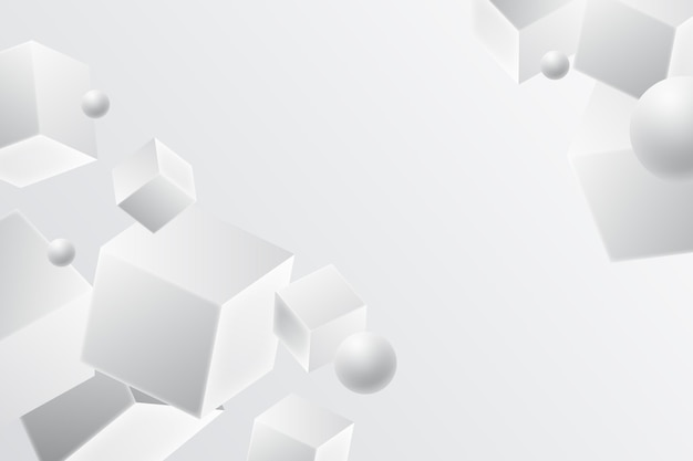 Weißer monochromer hintergrund im realistischen stil