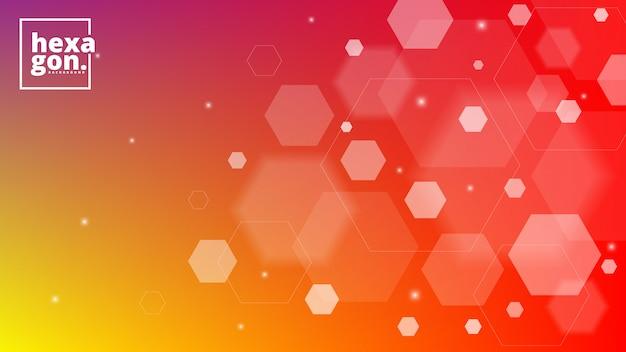 Weißer orange hintergrund von hexagonen. geometrischen stil. mosaikgitter. abstrakte sechsecke deisgn