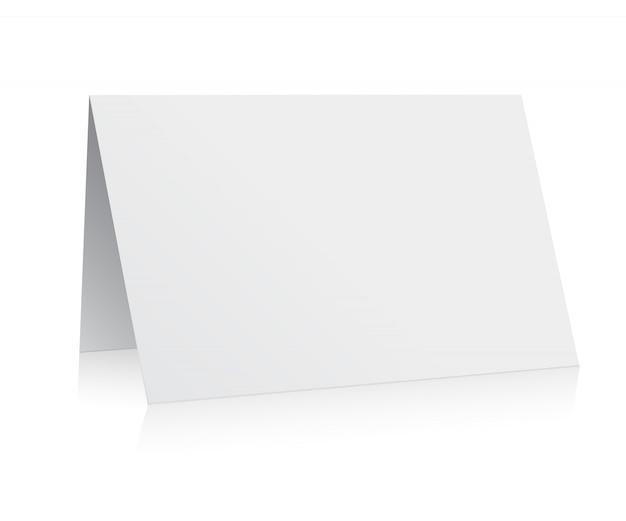 Weißer ordnerpapier-grußkartenvektor