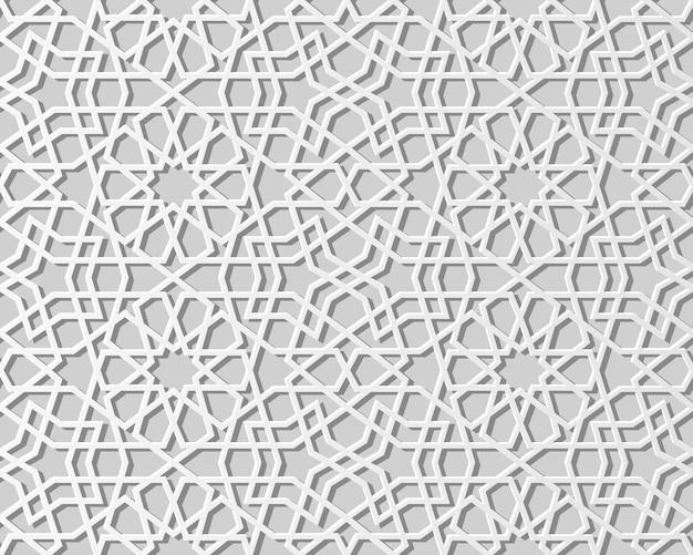 Weißer papierkunstgeometriekreuzmuster nahtloser hintergrund, stilvoller dekorationsmusterhintergrund für web-banner-grußkarte