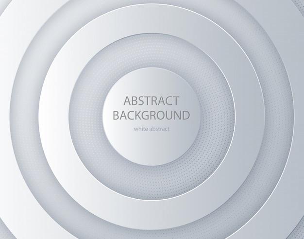 Weißer papierschnitt runder hintergrund