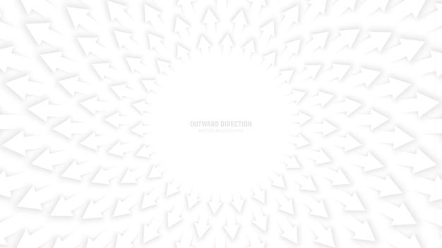 Weißer pfeil-abstrakter hintergrund