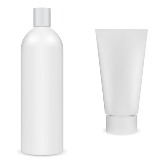 Weißer plastikbehälterrohling
