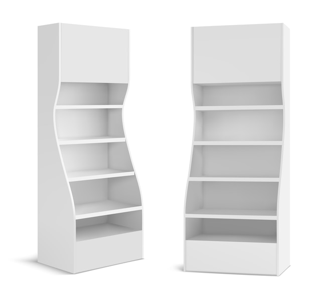 Weißer pos-displayständer für supermarktprodukte
