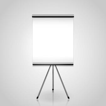 Weißer projektor des leeren bildschirms sauber mit copyspace