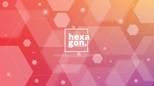 Weißer roter hintergrund von hexagonen. geometrischen stil. mosaikgitter. abstrakte sechsecke deisgn