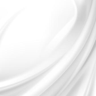 Weißer satin stoff textil drapieren